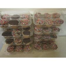 6 compartment standard size Cupcake Muffin Containers with Hinged Lid Pack of 24