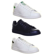 Adidas Originals Stan Smith Mens Leather Black Lace Up Trainers UK Size 6 - 12