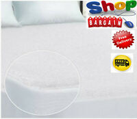 WATERPROOF TERRY TOWEL MATTRESS PROTECTOR FITTED SHEET COVER NON-ALLERGENIC