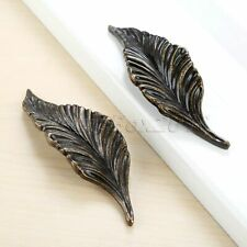 Antique Style Leaf Shaped Handles Pull Door Drawer Cupboard Cabinet Handle Knob