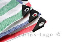 More details for striped tarpaulin medium heavy duty waterproof market stall cover tarp sheet