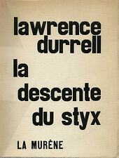 Rare EO signed # 250 copies + lawrence durrell: descent from styx