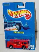 Hot Wheels Fire Eater Fire Truck - Blue Card BW's - Collector #82 Malaysia 1991