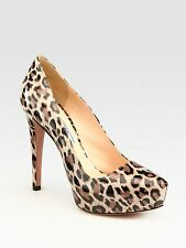 Prada Patent Leather Leopard Print Pumps Shoes Heels 39,5