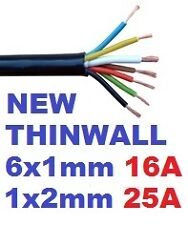 7 CORE 12S 12N AUTO TOWING CABLE 5 METRES TRAILER CARAVAN HEAVY DUTY THINWALL 5m