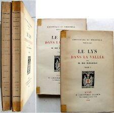 Le lys dans la vallée 1921 Honoré de Balzac Lardanchet bibliothèque bibliophile
