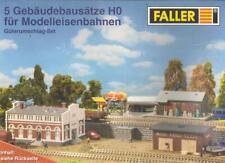 Faller 5 Gebäudebausätze HO 1:87 für Modelleisenbahnen Güterumschlag-Set OVP