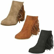 High (3 in. and Up) Block Heel Synthetic Boots for Women
