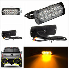 Super Bright DC12V Amber 12LED Car Van Off-Road Ultra Slim Flashing Strobe Light