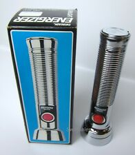 Eveready Energizer 9231 Vintage Red Button Ribbed Metal Body C-Cell Flashlight
