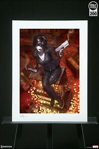 Sideshow Collectibles art print - Domino Luck Be A Lady  Alex Garner