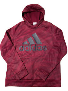 Adidas Burgundy Hoodie Jacket Pullover Youth Size XL 14-16