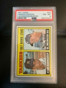 1967 Topps Yankees Rookies Bobby Murcer #93 PSA 8 NM-MT