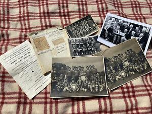 Little Lot of Vintage Football Photos Photographs & Scrap Book 1950s Interesting