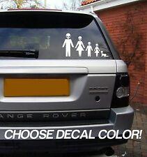 "Alien Family 9"" Vinyl Sticker Decal - Choose Color! car window stick figure van"