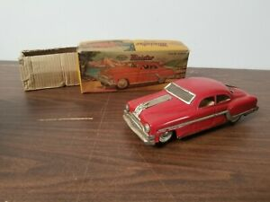 vintage 1950s Pontiac NOS Minister Deluxe toy friction toy car w/ box