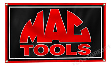 MAC Tools Flag Banner 3x5Ft Garage Shop Man Cave Decor Flag 4 Brass Grommets