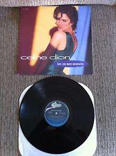 "CELINE DION - LOVE CAN MOVE MOUNTAINS - MAXI LP 12"" VG+/VG+ 1992 ORIGINAL PRESS"