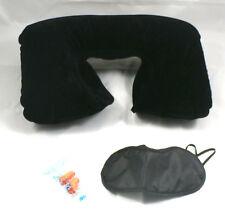 6x Schlafbrille Schlafmaske  6x Nackenkissen  Set Ohrenstöpsel Schlafset für 6