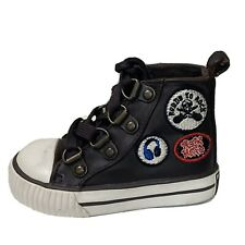 Childrens Place High Top Brown Rock Hero Sneakers Shoes Size 4C Boys Toddler Kid