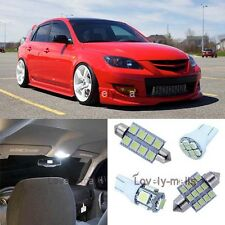 Deluxe Pure White Light SMD Interior LED Package Kit For Mazda 3 MS3 Hatchback