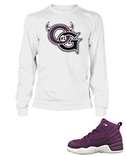 c0624fd36df13f OG Tee Shirt To Match AIR JORDAN 12 BORDEAUX Shoe Mens White Long Sleeve