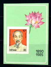 N.469-Vietnam-Block –IMPERF- President Ho Chi Minh 1985