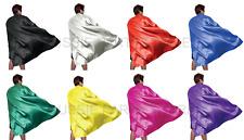 Adult Kids Plain Colour Cape Sports Day Superhero Fancy Dress Party Book week