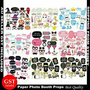 Photo Booth Photobooth Props Birthday Mustache Lips Stick Wedding Hen's Party AU