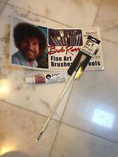 """Bob Ross 1/2"""" Wildlife Bristle Brush And Alizarin Crimson Soft Oil Color"""