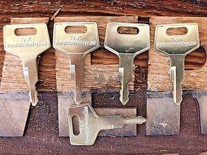 5 Takeuchi Keys for Excavator & Track Loader H806