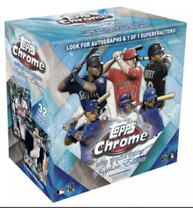 2020 Topps Chrome Update Series Sapphire Edition Sealed Hobby Box Confirmed!!