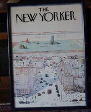"Original Vintage Poster ""The New Yorker"" Steinberg, UNFramed,40""x28"",1976, Ex.C."