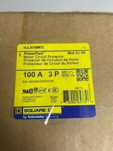 Square D HJL36100M73 3 Pole 100 Amp Motor Protection Circuit Breaker