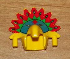 LEGO - Minifig, Headgear Headdress Jungle w/ Colored Feather Pattern (Achu)