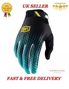 New 100% Cycling Motorcycle Riding Racing Motorcros Bicycle Bike MTB Gloves TEAL