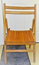 Vintage Antique Wooden Folding Chair Made in Vucosi Avir