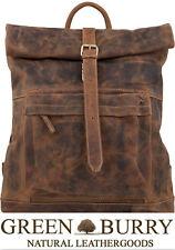 Greenburry Vintage Rucksack Leder Rolltop Backpack 1671-25 braun *!bestprice!*