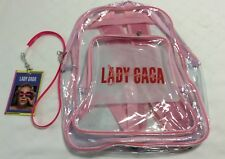 LADY GAGA JOANNE WORLD TOUR 2017 Pink/Clear Backpack + VIP USB Lanyard Charger