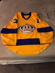 Los Angeles Kings Vintage Throwback Jersey, Authentic, Yellow, 46, MiC