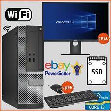 Fast SSD Desktop i3 PC Computer Bundle With Screen Full Set Windows 10 WiFi