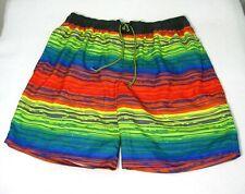 CASCADE SPORT Mens Rainbow Board Shorts (Size XL 36 38 40 42) Swim Surf Trunks