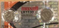 2 NEW LR1130 Maxell 189 389 LR54 AG10 New Alkaline Batteries USA SELLER