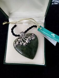 marble heart necklace/sterling