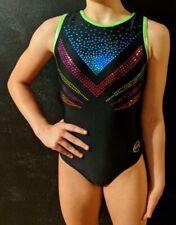 "Ozone Gymnastics ""The V Leotard? Black Sequins Size AS"