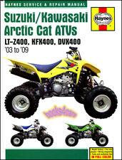 SUZUKI KAWASAKI ARCTIC CAT LTZ400 KFX400 DVX400 SHOP MANUAL SERVICE REPAIR 03-09
