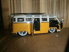 "1962 CLASSIC VW BUS 6"" WOOD SURFBOARD 3 STRINGER LONGBOARD 60'S SURF LOGO'S 1:24"