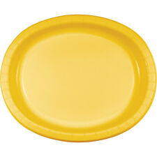 "8 School Bus Yellow Birthday Party Tableware 12"" Oval Paper Platter Plates"