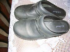 L. L. Bean Black Leather Clogs Size 39 / 8 - 8.5 1/2 Mules Shoes