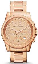 Armani Exchange AX2502 Rose Gold Dial Rose Gold Chronograph Men's Watch